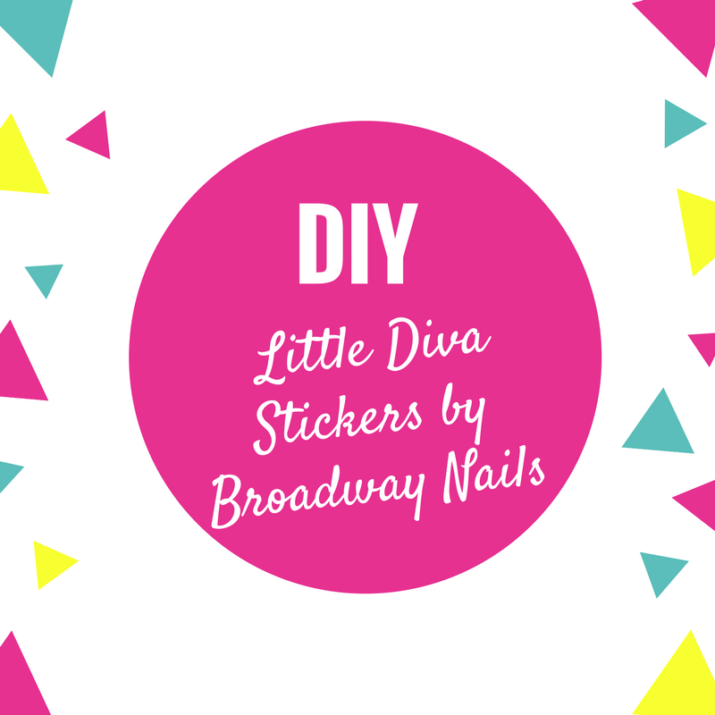 DIY Little Diva Stickers by Broadway Nails
