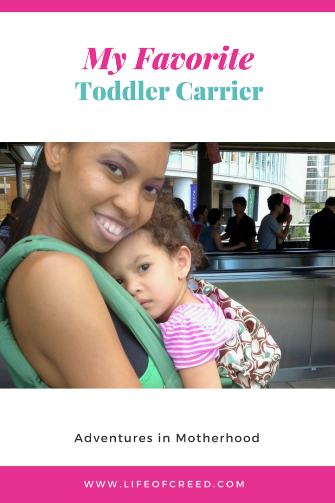 We are getting ready to take a much need vacation and getting things together. I knew I would need to get my favorite toddler (and baby) carrier out the closet for travel. I LOVE the Ergobaby Organic carrier.