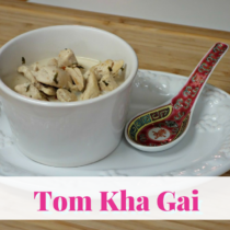 What is Tom Kha Gai? It is a Thai spicy and sour soup, with coconut milk and chicken being the main ingredients. You can also make this delicious soup without the chicken or you can use seafood like shrimp.