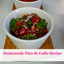 Homemade Pico de Gallo. Quick and easy recipe for Taco Tuesday or to add Mexican flavor to any dish.