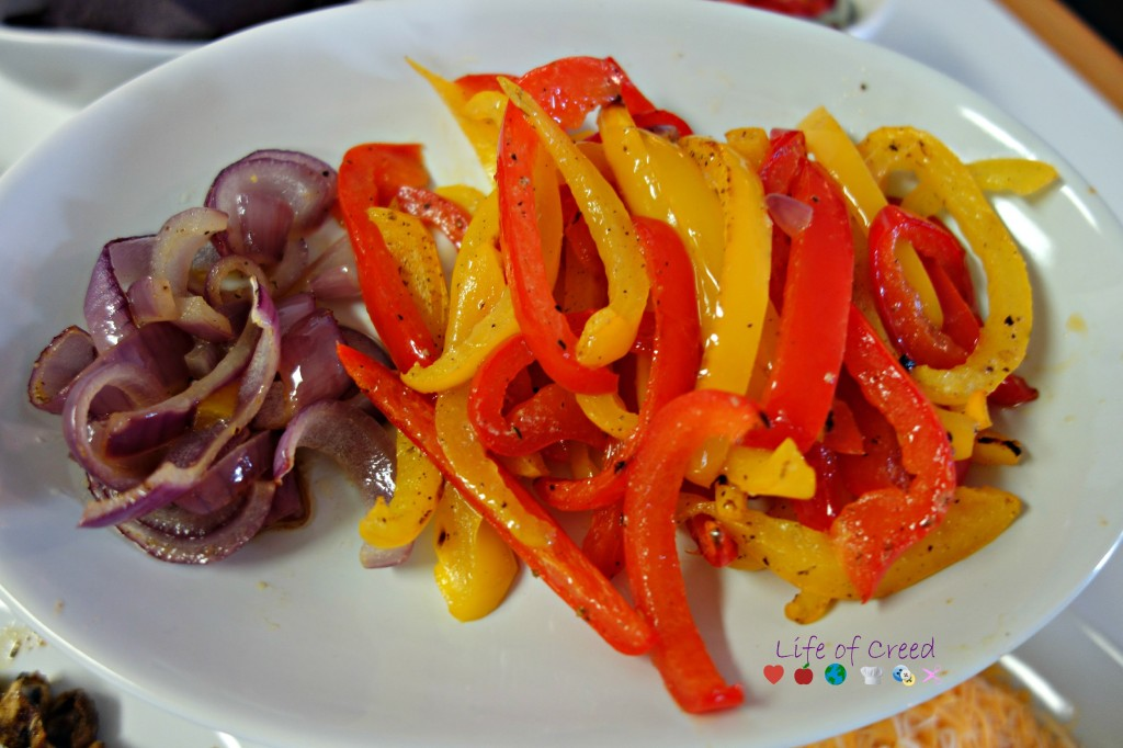 Oven roasted mushroom and bell peppers