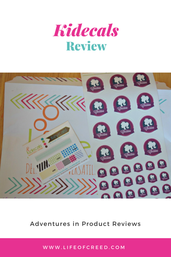 Kidecals Review - I had the pleasure of being able to check out the kidecals products.