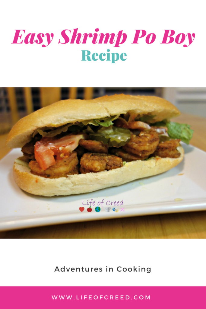 Shrimp Po Boy. It is a quick and easy recipe. It is a meal that taste great and also inexpensive.
