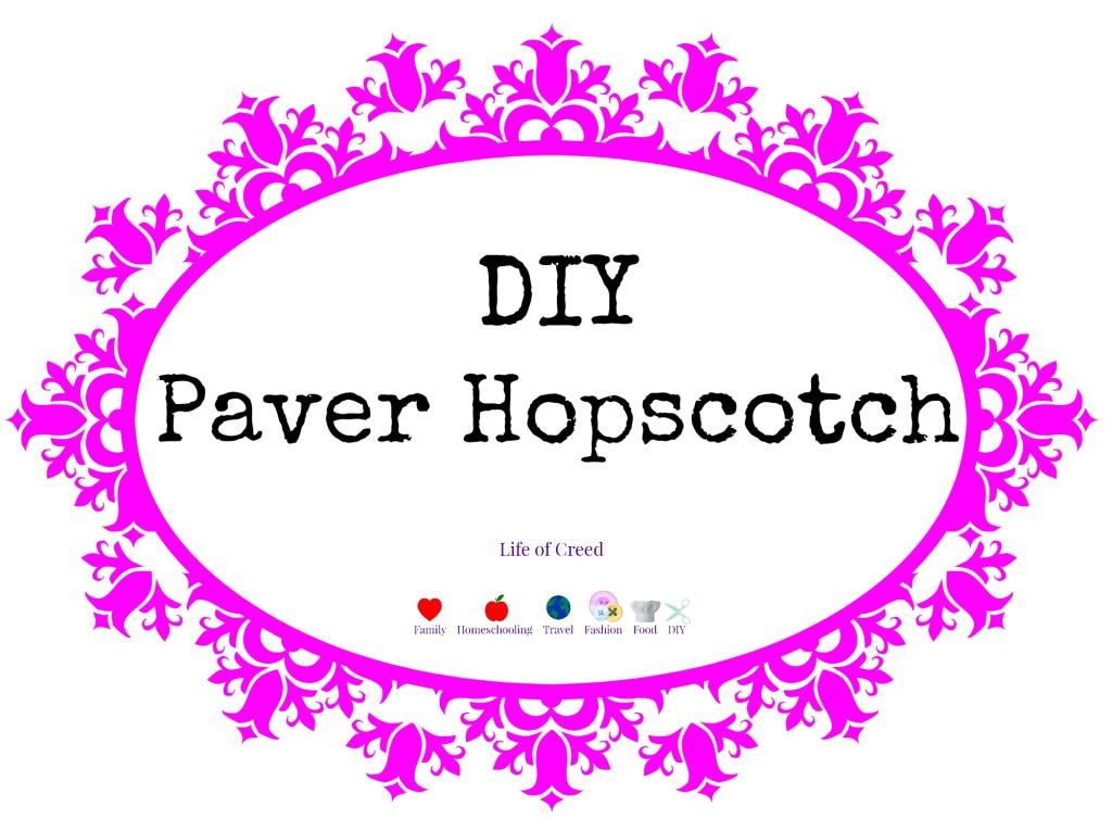 DIY Paver Hopscotch via @LifeofCreed