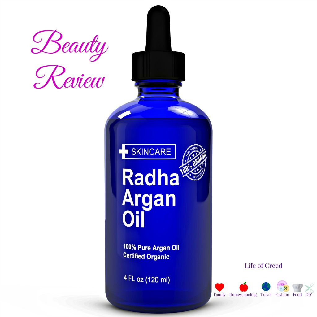 100% Pure Argan Oil by Radha Beauty Review via @LIfeofCreed