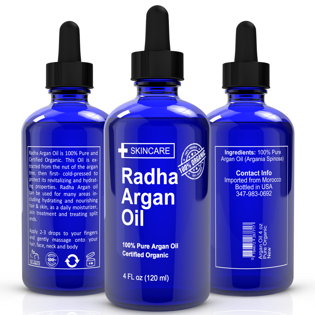 Pure Argan Oil by Radha Beauty Review via @LifeofCreed