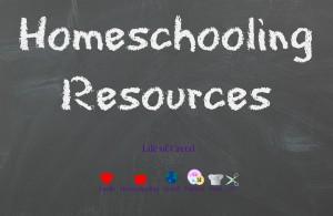 homeschooling resources via lifeofcreed.com @lifeofcreed