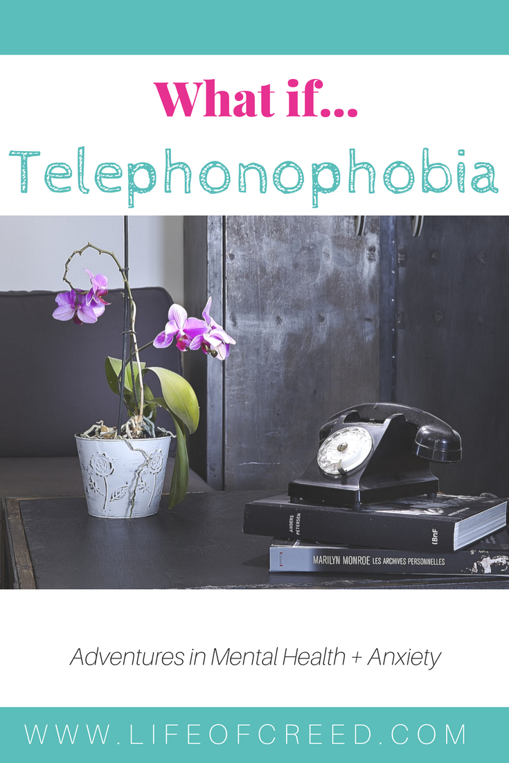 I have a fear of talking on the phone! Telephonophobia also known as telephone phobia or phone phobia is the fear of taking or making telephone calls.