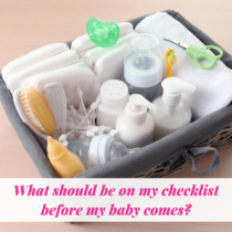 checklist before baby comes