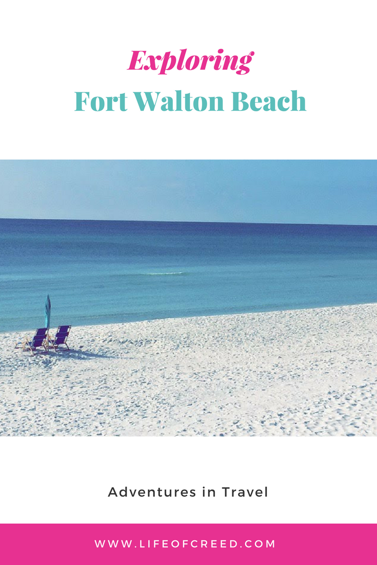 But this time around, the adventure took us to Fort Walton Beach for a few days. It was my first time visiting the white sands of the panhandle of Florida.